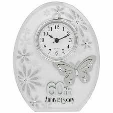 details about 60th wedding anniversary clock 60 years of marrage diamond anniversary gift uk