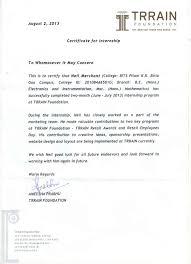 Certificate Of Internship Format Unique Internship Certificate