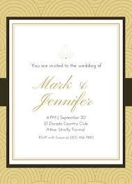gold white simple royal wedding invitation