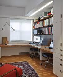 built in office desk ideas. L Shaped Varnished Teak Wood Double Desk For Home Office Under Wall Mount Wooden Built In Ideas