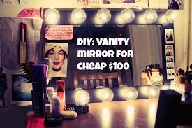 diy vanity mirror cheap only 100 youtube cheap vanity lighting