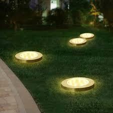Outdoor Landscape Lighting Us 6 95 35 Off Solar Rechargeable Outdoor Garden Landscape Lighting 8 Led Solar Underground Lamp Path Decoration Solar Floor Light Waterproof In