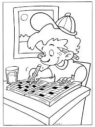 Kleurplaat Puzzelen Puzzelboek Kleurplatennl