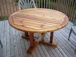 nice round outdoor dining table for 6 25 best ideas about outdoor table plans on