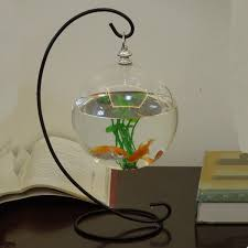 Decorative Fish Bowls Diameter = 100cm Glass Aquarium And Stand Set Desk Stand Hanging 24