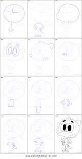 How to Draw Gumball Watterson from The Amazing World of Gumball step by step how to draw gumball watterson from the amazing world of gumball on free printable weekly time sheets