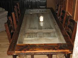 custom made reclaimed barnwood dining room table