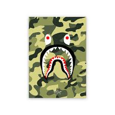 image of bape shark green camo