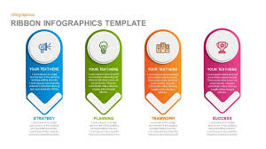 Ribbon Infographics Powerpoint Template And Keynote