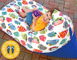 the classic bean bag chair has always been round kind of like sinking into a giant squishy beachball but if you wanted to make your own