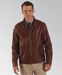 polo ralph lauren men leather jacket methuen rail trail