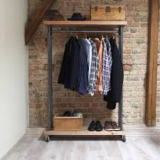 furniture industrial style. Industrial Style Reclaimed Wood Clothes Rail Furniture R