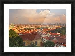 view of prague rooftops from castle hill prague hlavni mesto praha czech republic