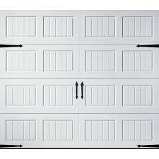 pella carriage house 108 in x 84 in white single garage door