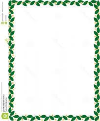 Stock Illustration Green Border Flowers Vector Leaf Image