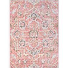 karolina pale pink 8 ft x 10 ft indoor area rug