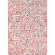 karolina pale pink 8 ft x 10 ft indoor area rug