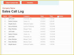 Sales Call List Call List Template Free Of 40 Phone Email Contact List