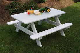 yellow pine kid 039 s picnic table from dutchcrafters