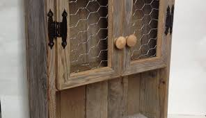 rustic cabinets. Charming Rustic Cabinet Reclaimed Wood Shelf Chicken Wire Decor Bathroom In Wall Cabinets