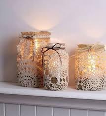 Decorating Mason Jars With Ribbon Great DIY mason jar lace decoration with ribbon weddingideas 83