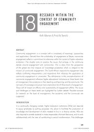 PDF) Research Within the Context of Community Engagement