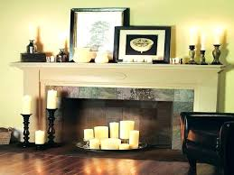 fireplace candle holder insert fake fireplace surround ideas