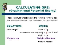 calculating gpe gravitational potential energy