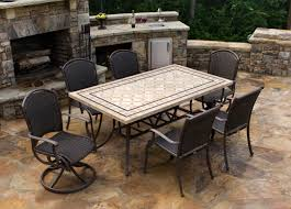 Outdoor Tile Table Top Patio Decor Tile Top Table And Chairs With Aluminum Fair Patio
