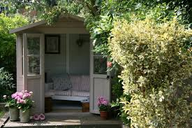 english country garden cabin summerhouse from garden owned by claire shedoftheyear