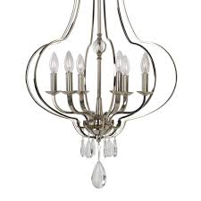 graceful 6 lt polished nickel square arm chandelier with the petite arms floating on the