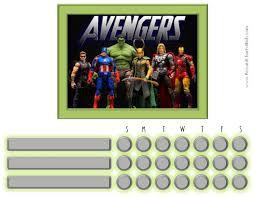 Marvel Reward Chart Printable Marvel Avengers Charts Customizable Printable Free