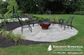 Flagstone Patio For Fire Pit Area In Lititz Pa Tomlinson Bomberger