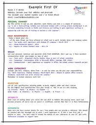 Microsoft Word Resume Template Skill Up My First Cv Template Skill
