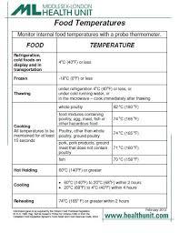 Restaurant Fridge Temperature Chart Walk In Cooler Food Storage Chart Pdf Bedowntowndaytona Com