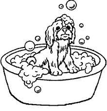 Kleurplaat Schattige Hondjes Hund In Der Badewanne Ausmalbild