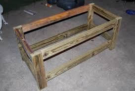 wooden patio storage bench plans