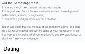 Funny relationship resume