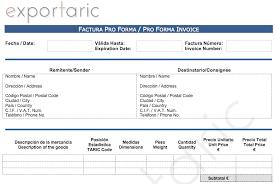 Formato De Factura De Exportacion La Factura Proforma Exportaric