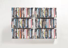 dvd wall shelf 45 x 15 cm set of 6