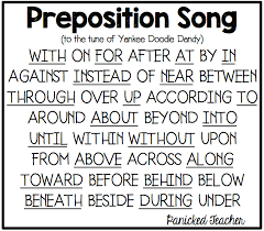 Preposition Chart For Kids Pumpkins Prepositions And Poetry Panicked Teacher