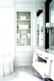 glass door bathroom cabinet bathroom wainscoted tub with glass door inset linen cabinet recessed mirrored bathroom glass door bathroom cabinet