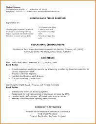 Bank Teller Resume Sow Template Bank Teller Resume Sample