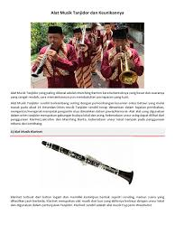 Biola adalah contoh alat musik melodis yang dimainkan dengan cara digesek. Alat Musik Tanjidor Dan Keunikannya