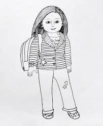 American Girl Doll Coloring Pages Wecoloringpage Unique 15 Idea