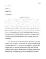 in the time of the butterflies essay in the time of the  6 pages final paper in engl 1102 on n republic society