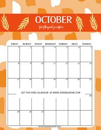 calendar october 2017 template