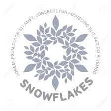 Snow Templates Snowflake Vector Logo Templates Isolated On White Background