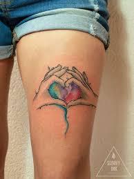 Tetování Otec S Matkou Drží Své Dítě Tetování Tattoo