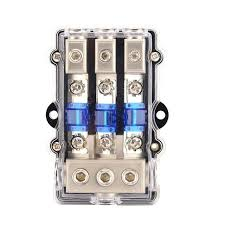 universal car stereo audio power fuse box waterproof blade fuse car stereo fuse block at Car Stereo Fuses